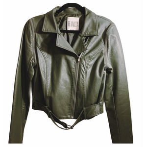 BB Dakota Green Moto Jacket
